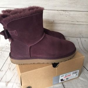 UGG Mini Brigette Bow Port Boots 10